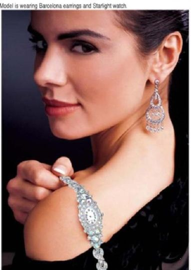 BARCELONA earrings  These dramatic, art deco-inspired chandelier pierced earrings are the perfect...