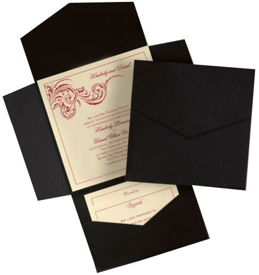Cream and black invitation