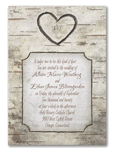 Rustic elegance with matching enclosure cards for reception, response and accommodations