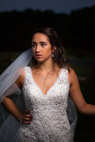 Night time bridal shoot