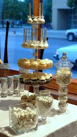 Wedding pastry area