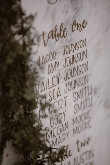 Guests list | Erin Morrison Photography