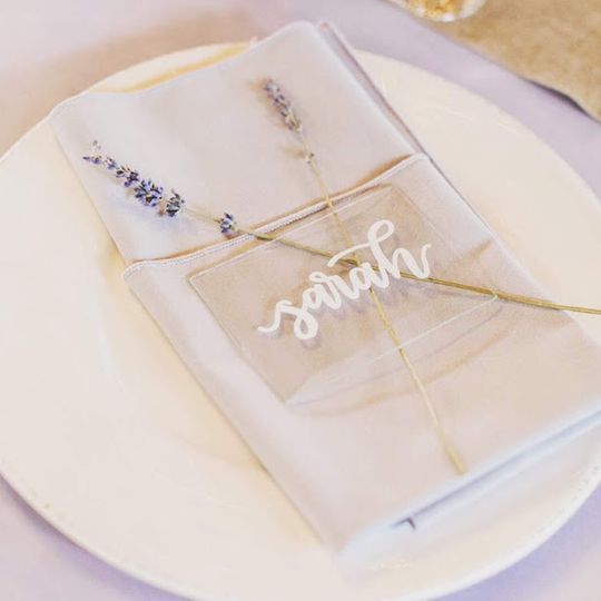 Reception menu | Megan Haun Photography