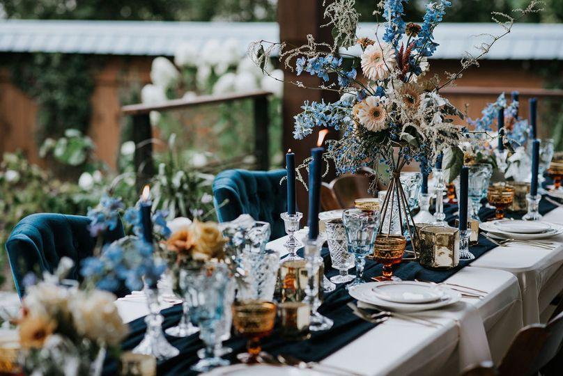 Dinner in Blue