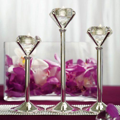 diamond tea light holders
