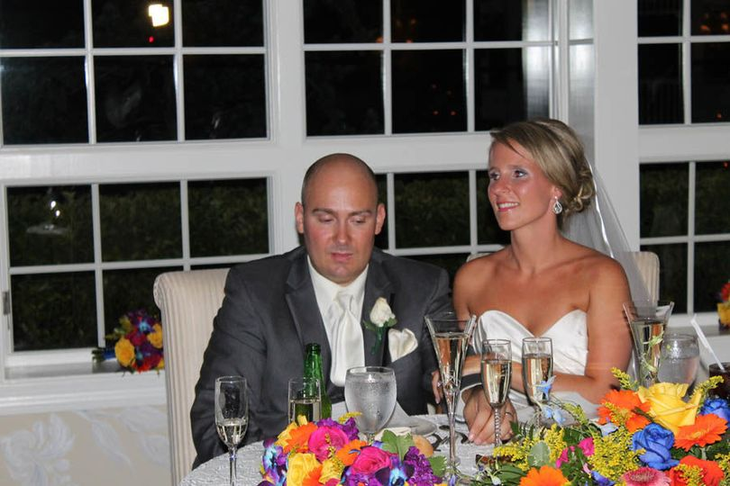 Couple on their sweetheart table