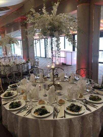 Wedding Classy round tables