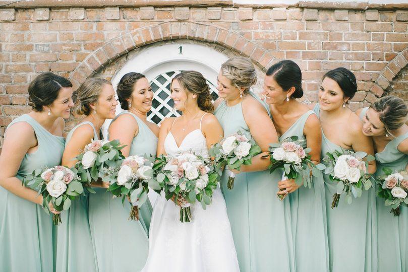 Bridal Party in Sage