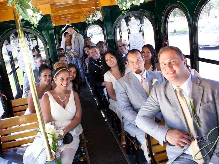 Tmx 1438019459761 Large Wedding Party On Trolley West Palm Beach, Florida wedding transportation