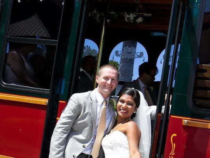 Tmx 1438020335274 Bride And Groom At Trolley Door West Palm Beach, Florida wedding transportation