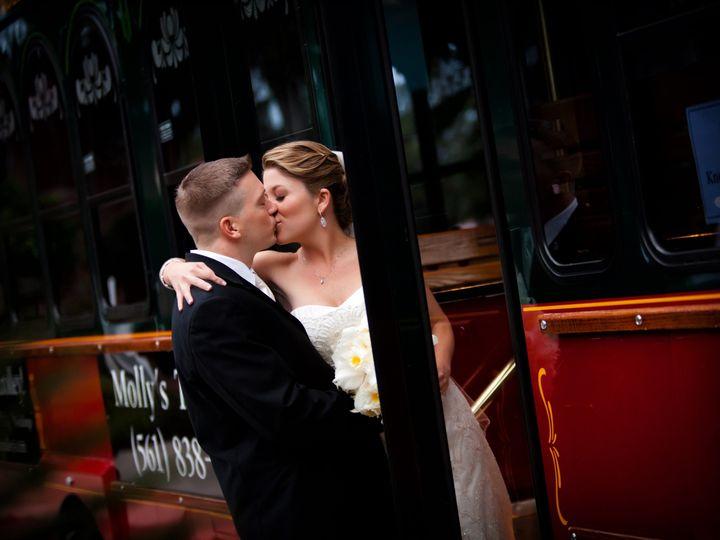 Tmx 1438020541598 Trolley Kissing Couple 10 11 12 West Palm Beach, Florida wedding transportation
