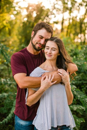 Iowa City wedding and engagement photographers