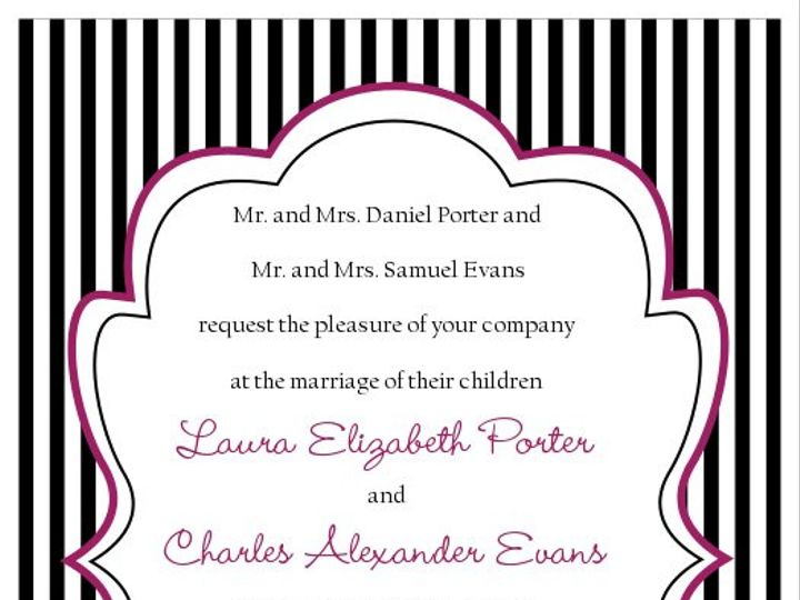 Tmx 1363144612930 SWSinvitationblackStripeswithFont100ppi Littleton wedding invitation