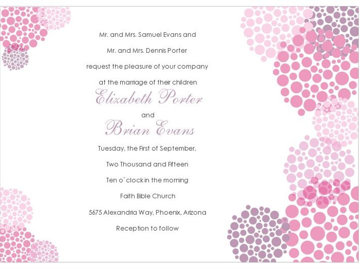 Tmx 1363144767531 SWSinvitationBubblesPinkwithFont100ppi Littleton wedding invitation