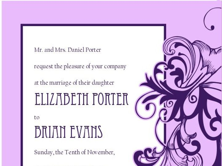Tmx 1363145652029 SWSInvitationPurplewithFontsolid100ppi Littleton wedding invitation