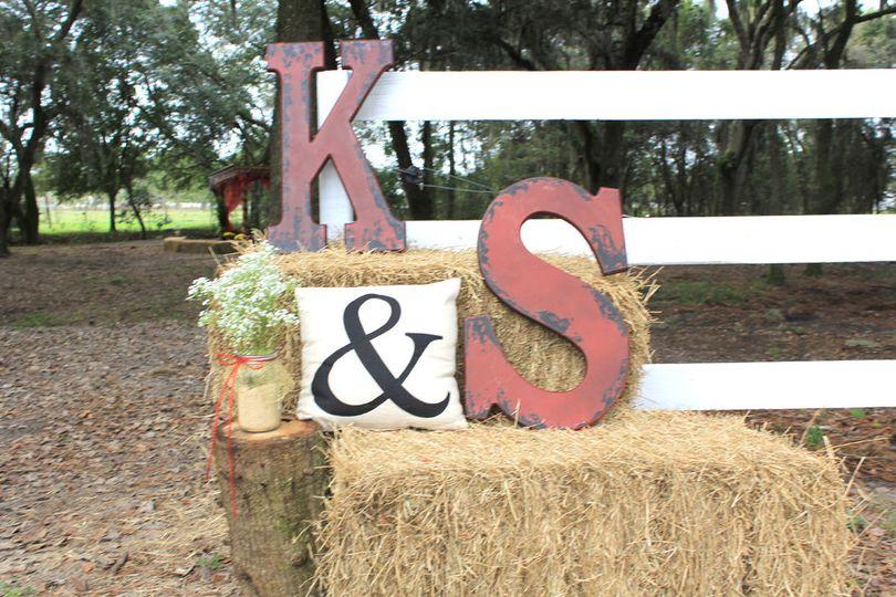 K & S lettering decor