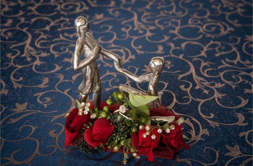 Bride and groom decor