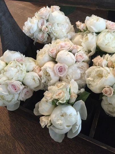 White flower decorations