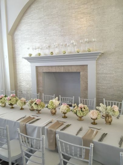 White long table setup