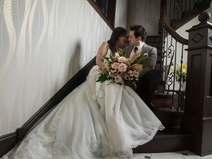 Couple on the stairs