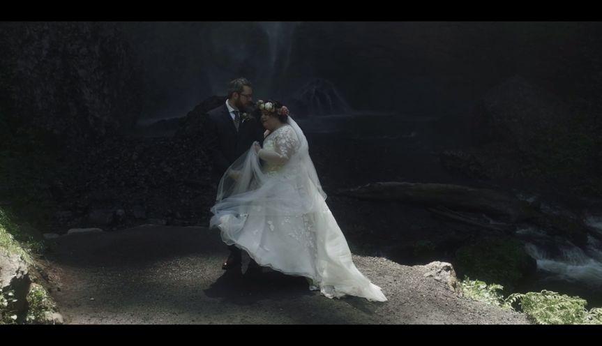 Waterfall + James and Gina