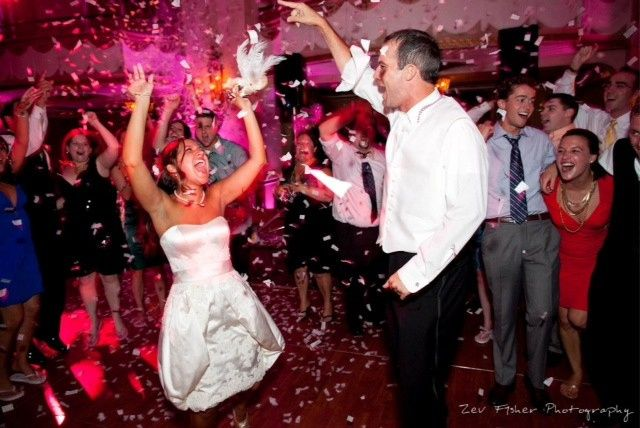 Tmx 1414600404031 Confetti Blast Over Bride And Groom Boston, Massachusetts wedding dj
