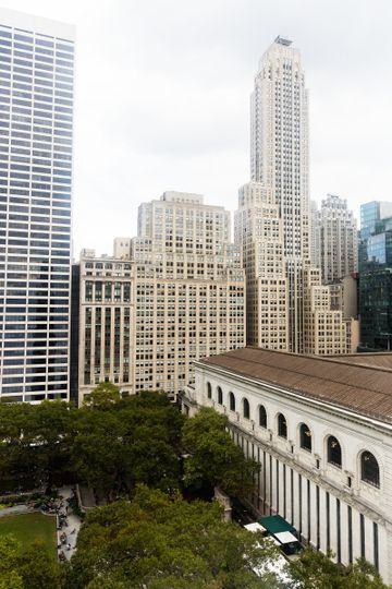 View from the Bryant Park Hotel overlooking Bryant Park and Bryant Park Grill