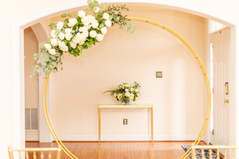 Circular ceremony arch