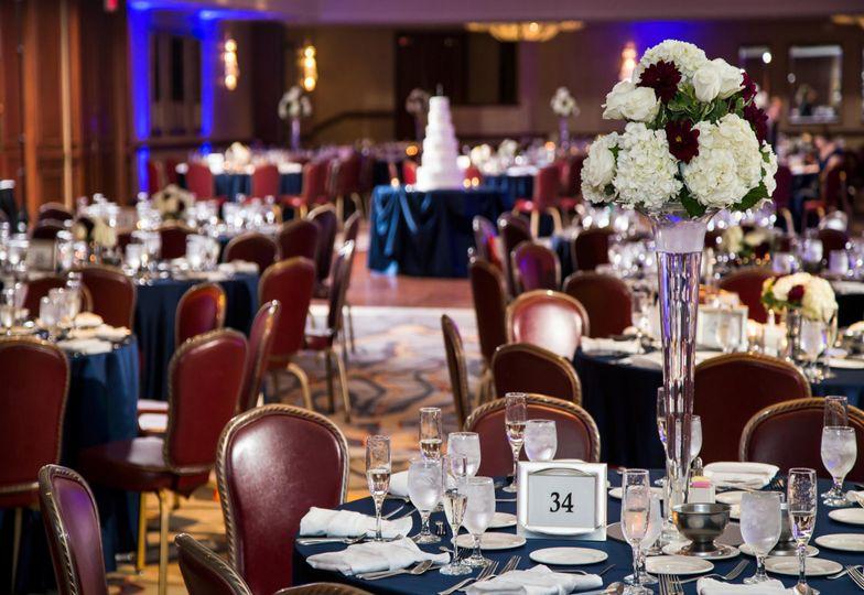 Weddeing reception setup