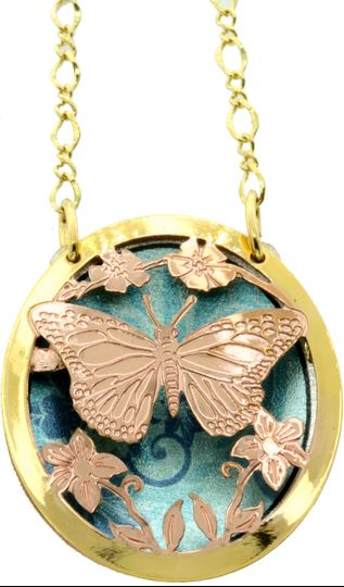 Butterfly jewelry necklaces