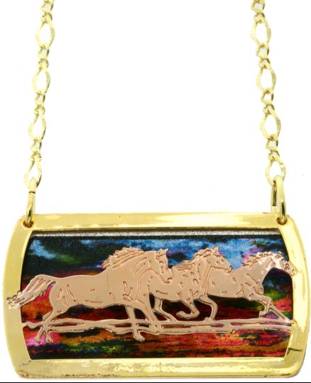Horse jewelry necklaces