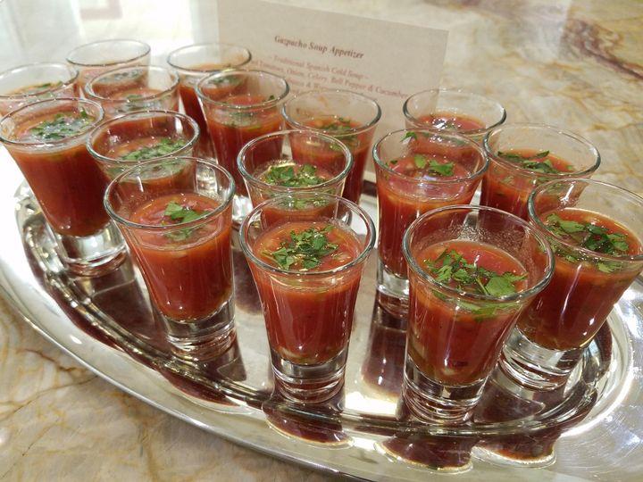 Tmx Gazpacho Soup Shot Cheat A Little Catering 51 1044101 159267634157224 San Mateo, CA wedding catering