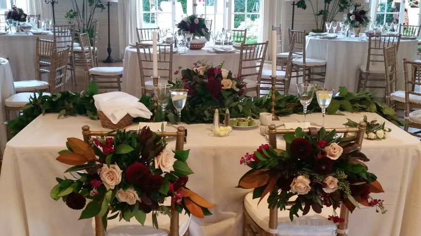 Sweetheart Table Floral Decor