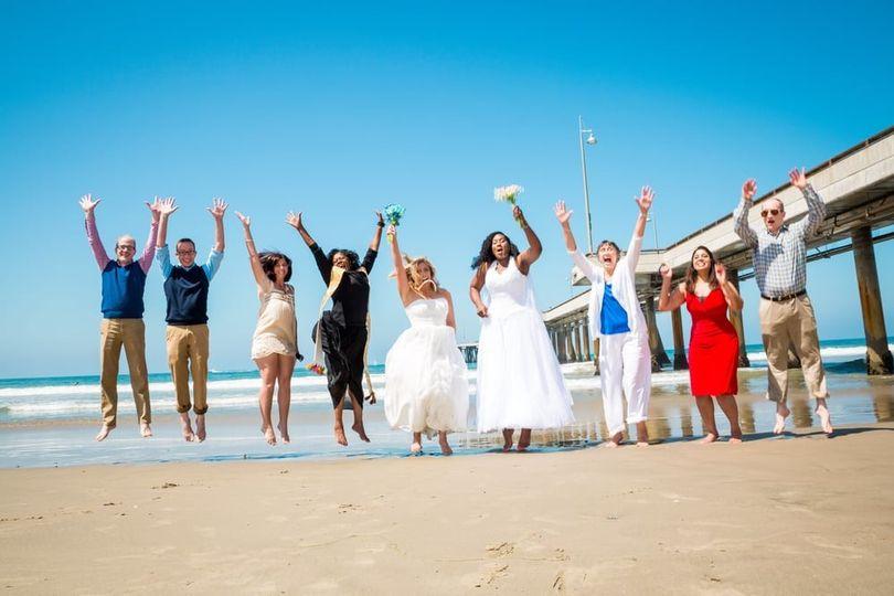 Jump shot at the beach