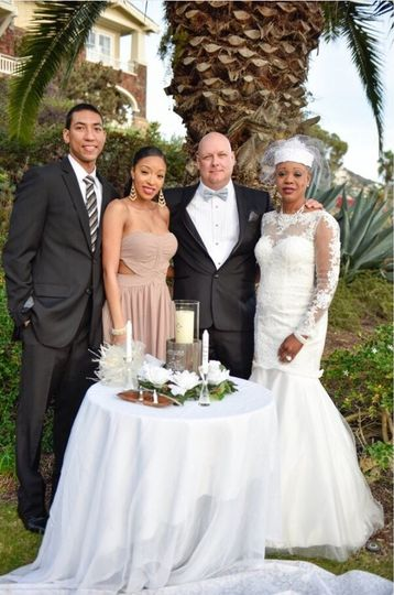 Newlyweds and family