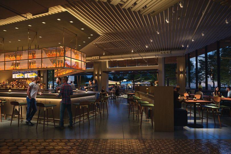 Indoor and outdoor restaurant space