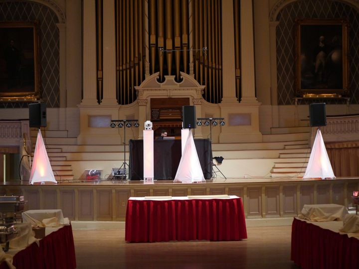 Dj Setup at Mechanics Hall