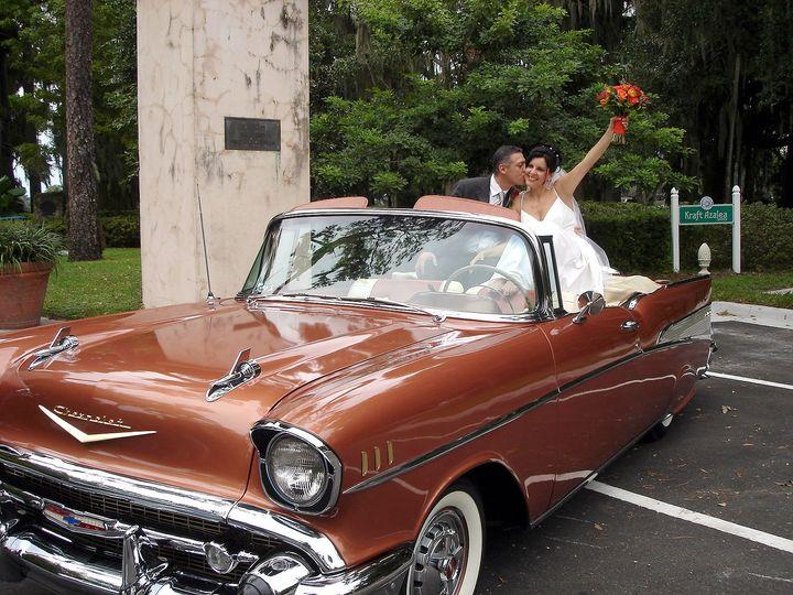 Tmx 1517417849 458b0d27bf748094 1517417846 1a14b1d7fb436630 1517417821242 2 1957ChevyWedding Orlando wedding transportation