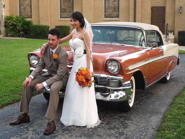 Tmx 1517417946 Fe325584ca7f2091 1517417943 1f7da4d0d3b81a8c 1517417920162 5 1956ChevyWedding Orlando wedding transportation
