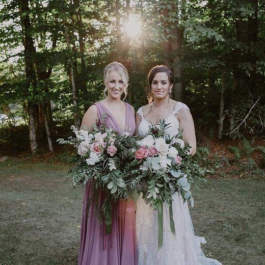 Bride & grand maid of honor