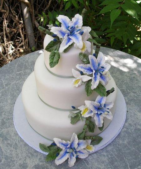 Blue star gasier Sugar Flowers by Donna Joy