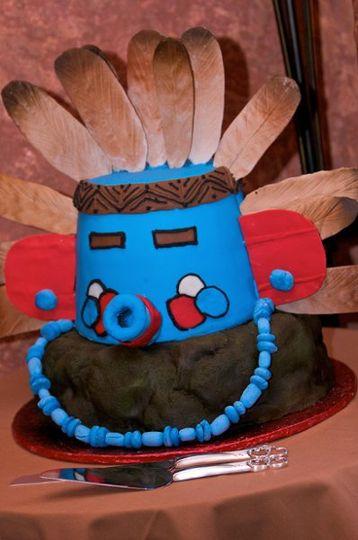 Kachina Doll Wedding Cake head
