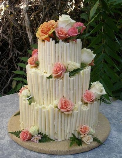 White Chocolate cigar Wedding cake