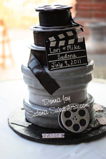 Movie Theme Wedding cake
