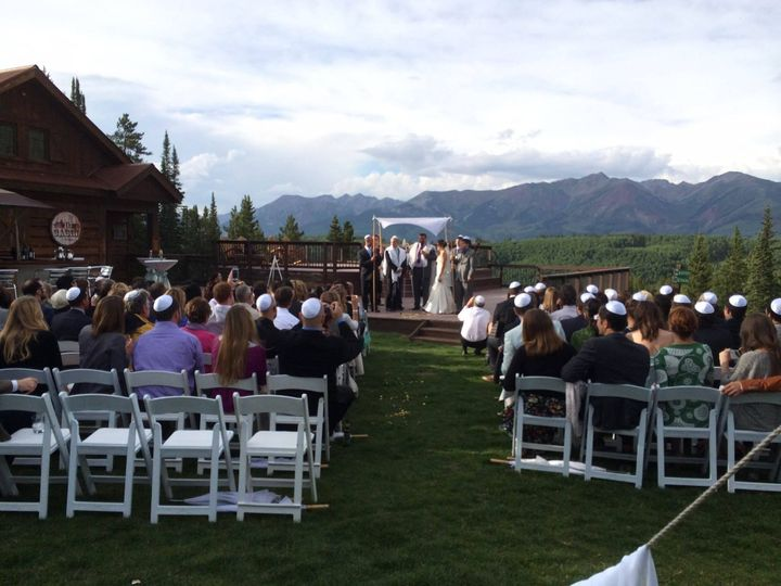 Outdoor Wedding at Uley's Cabin in Crested Butte!