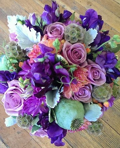 Hues of violet and purple