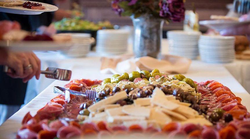 Wedding buffet area