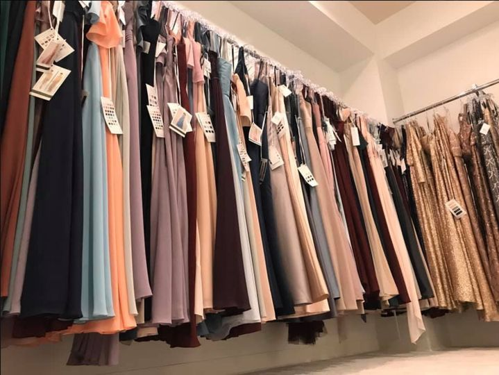 Bridesmaid gown selection