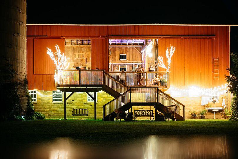 barn dark deck lights
