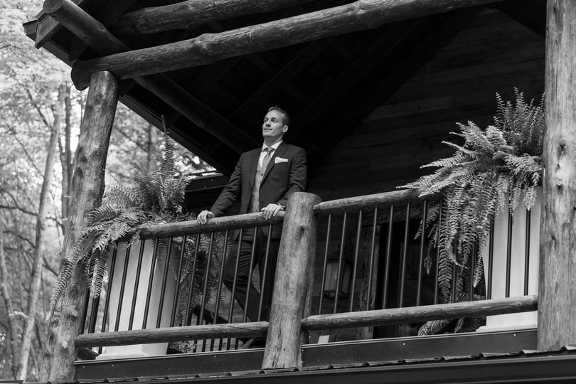 Groom at the balcony